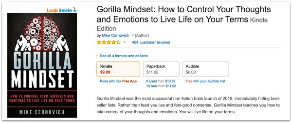 Gorilla Mindset 400 reviews Mike Cernovich.43 PM