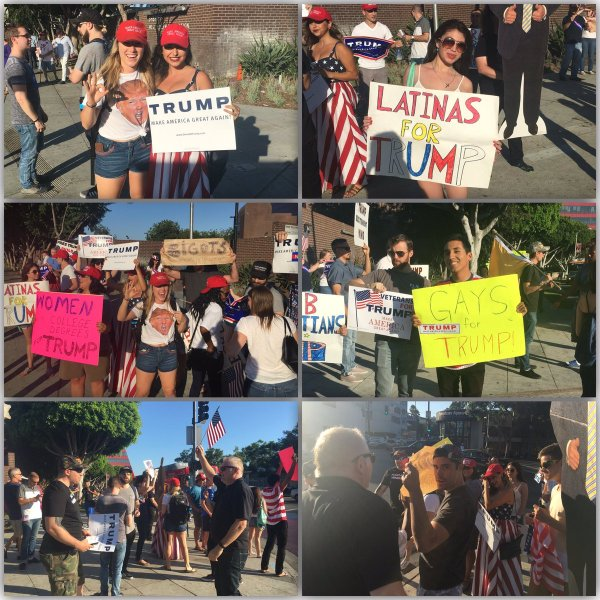 Trump Rally West Hollywood