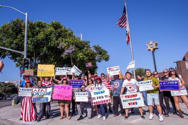 Trump West Hollywood rally copy