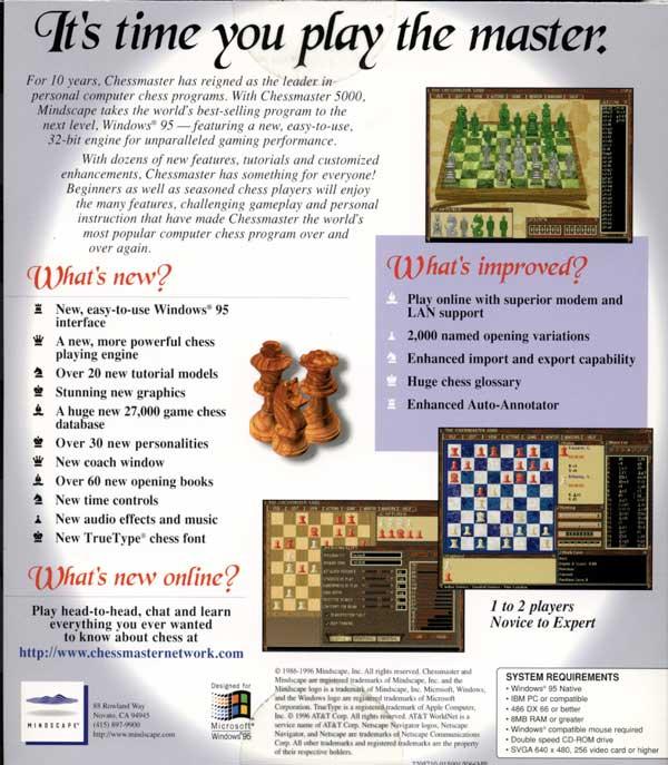 Chessmaster 5000 (Back)