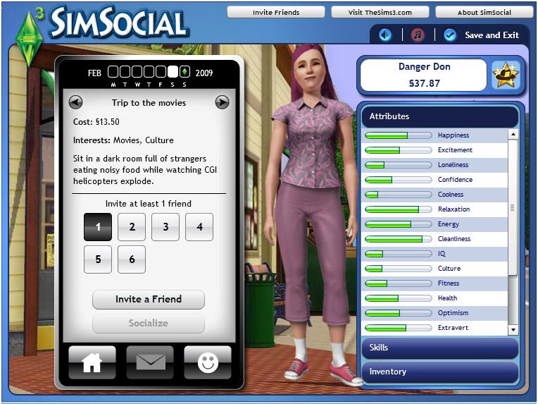 SimSocial (Facebook)