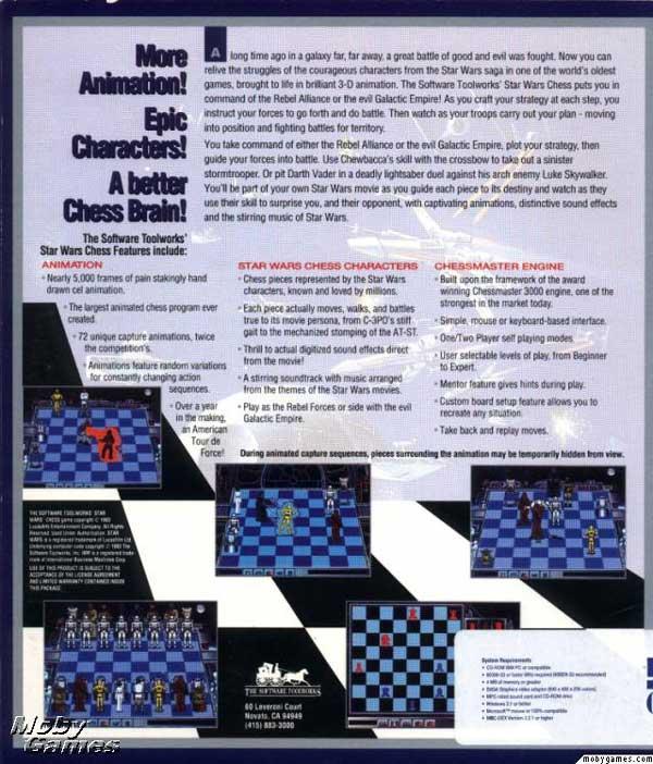 Star Wars Chess (Back)