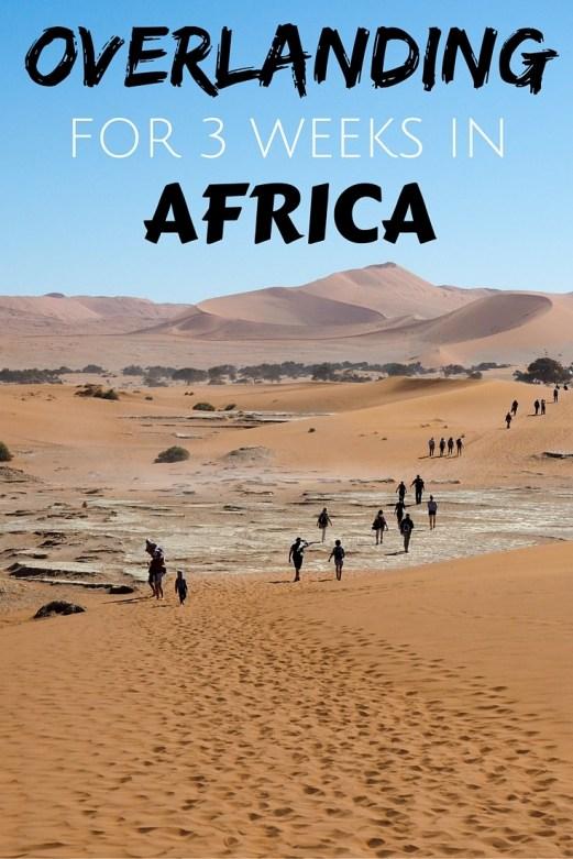 Overlanding in Africa for 3 weeks