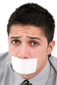 Man gagged and censored
