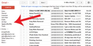 Gmail's spam filter in action