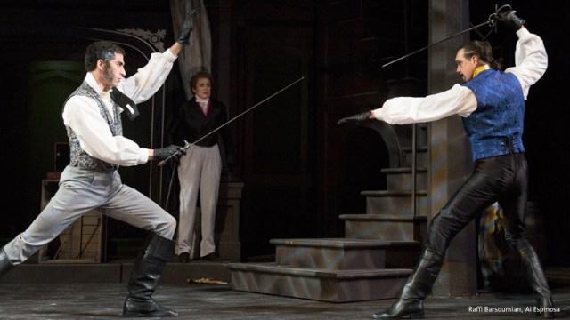 Sword fight between Raffi Barsoumian and Al Espinosa