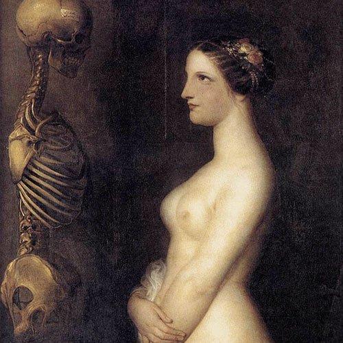 Nude facing death