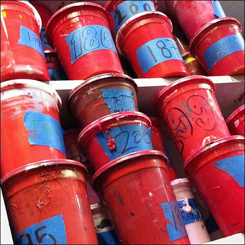 Red Ink containers