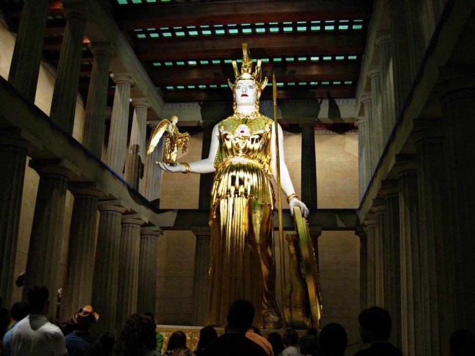Athena Statue in the Nashville Parthenon
