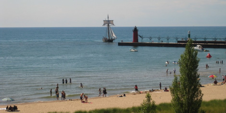 Beach at South Haven, Michigan