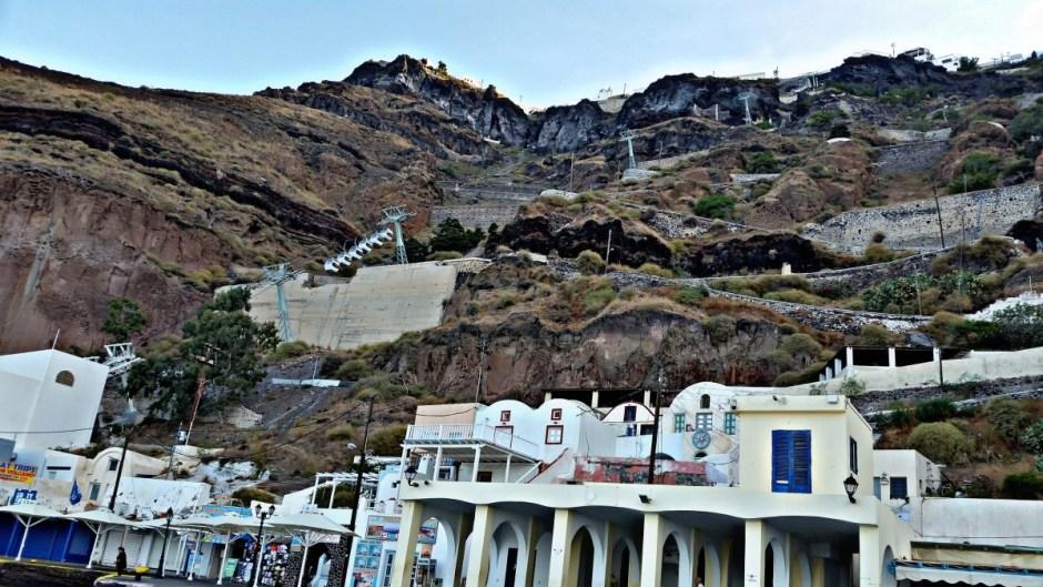 Cable car ride - Santorini Hike