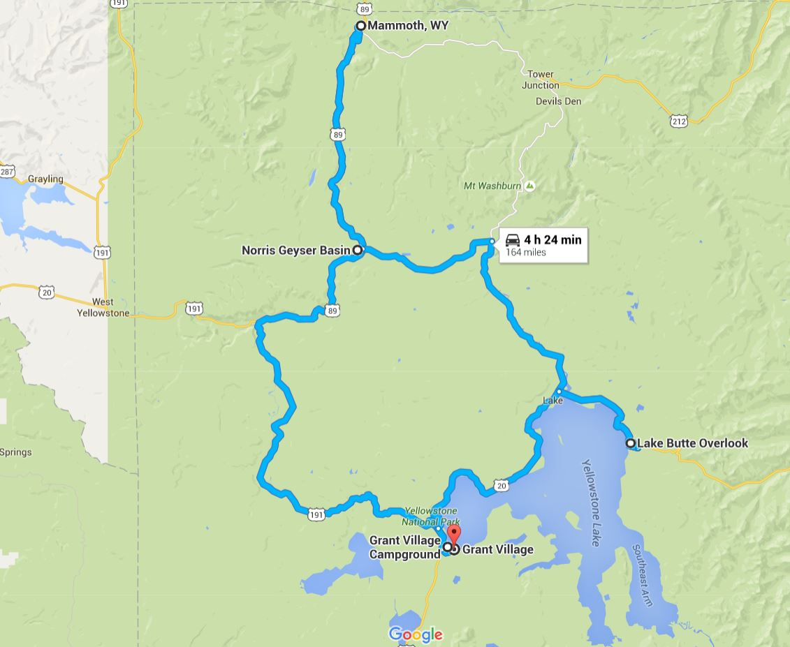 Northwest Yellowstone Map