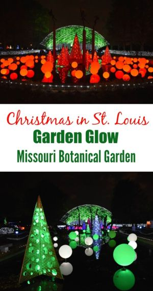 The St. Louis Garden Glow at Missouri Botanical Garden has a million twinkling lights and multiple festive installations to get in the holiday spirit!