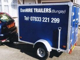 small luggage trailer