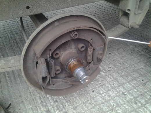 Brake Shoes distorted