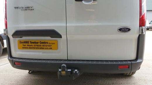Fixed Flange Towbar with 7 pin electrics fitted to new FORD TRANSIT VAN