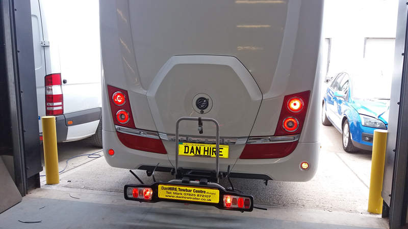 witter detachable towbar plus witter cycle rack danhire