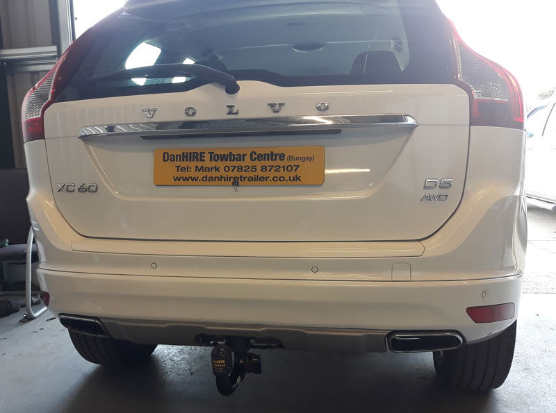 Detachable Towbar with specific wiring