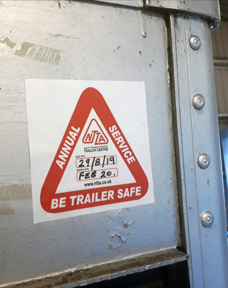 NTTA Trailer Safe sticker.