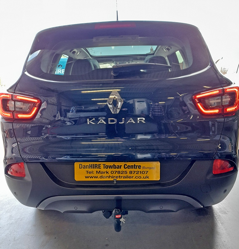 Renault Kadjar fitted with Detachable Towbar