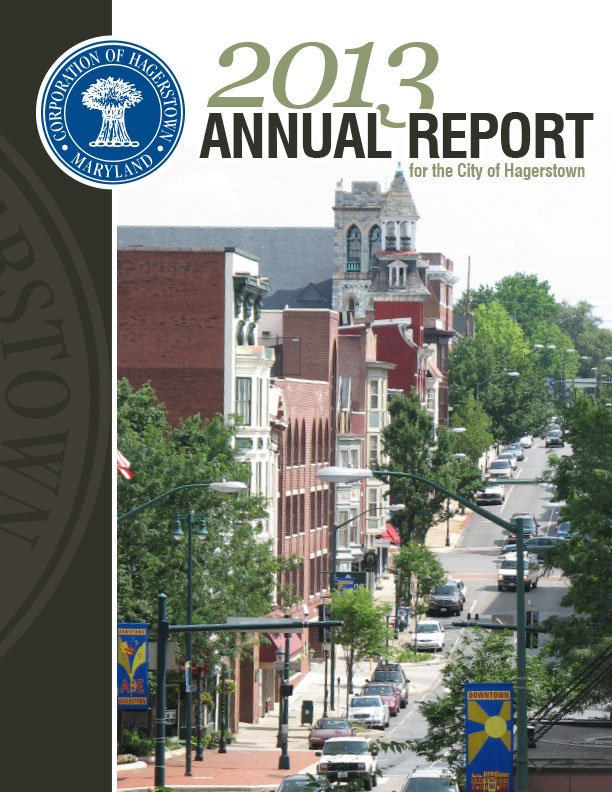 2013. The City of Hagerstown had Icon Graphics create their annual report for 2013. This was its cover.