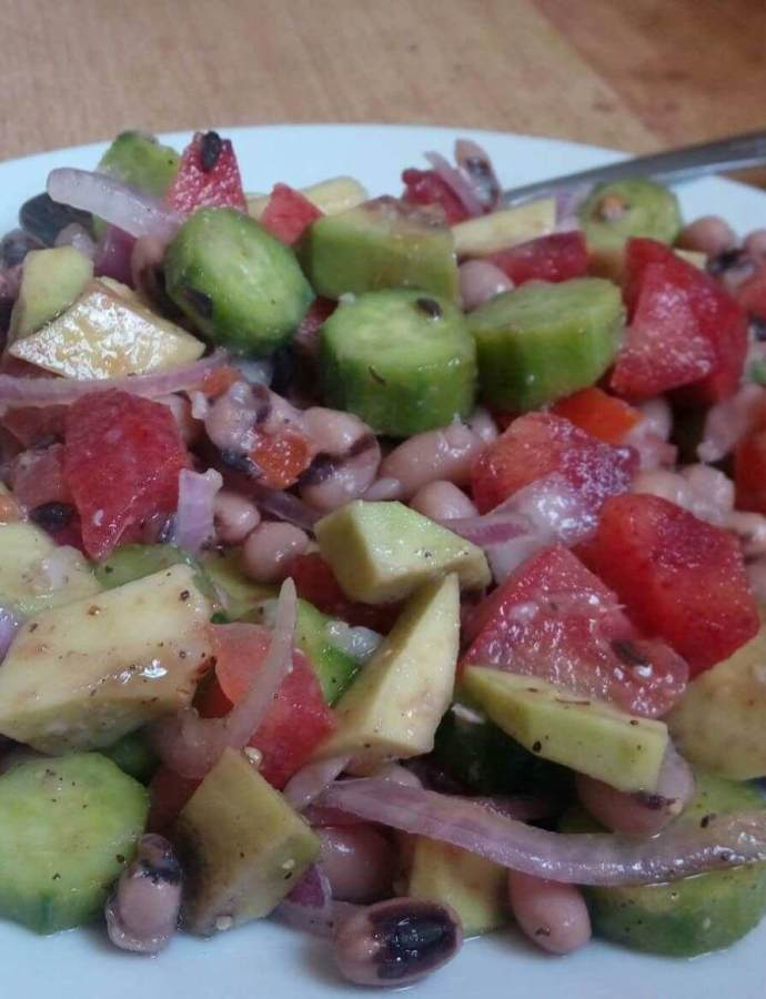 Black Eyed Pea Salad with Italian Dressing