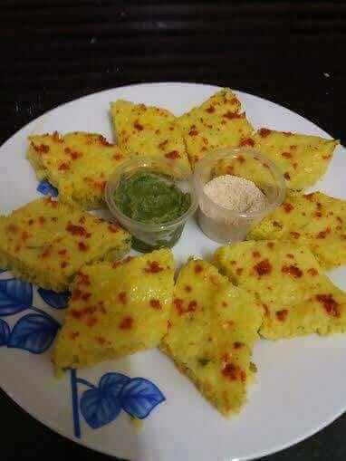 Tempting Spongy Dhokla recipe