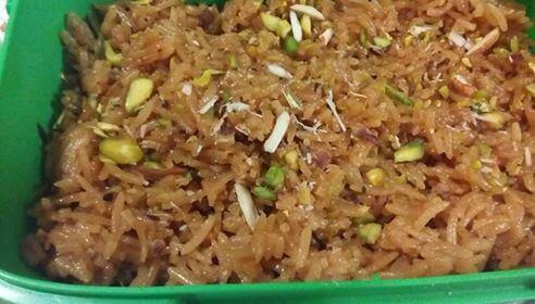 Rice with Brown sugar (Gur waly chawal)