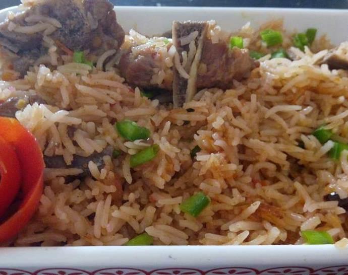 Mutton Pilaf recipe/Mutton pulao recipe