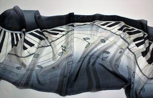 Blanco y negro diseños en seda