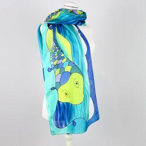 Pañuelo azul Peces