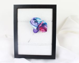 broche de seda floral