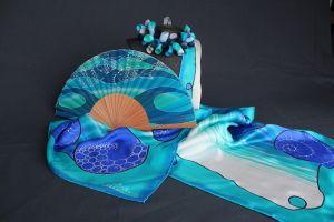 accesorios de seda pintada a mano