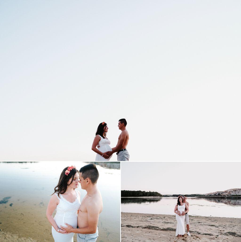 Photographe famille Landes Dax- photo grossesse plage vieux boucau 9