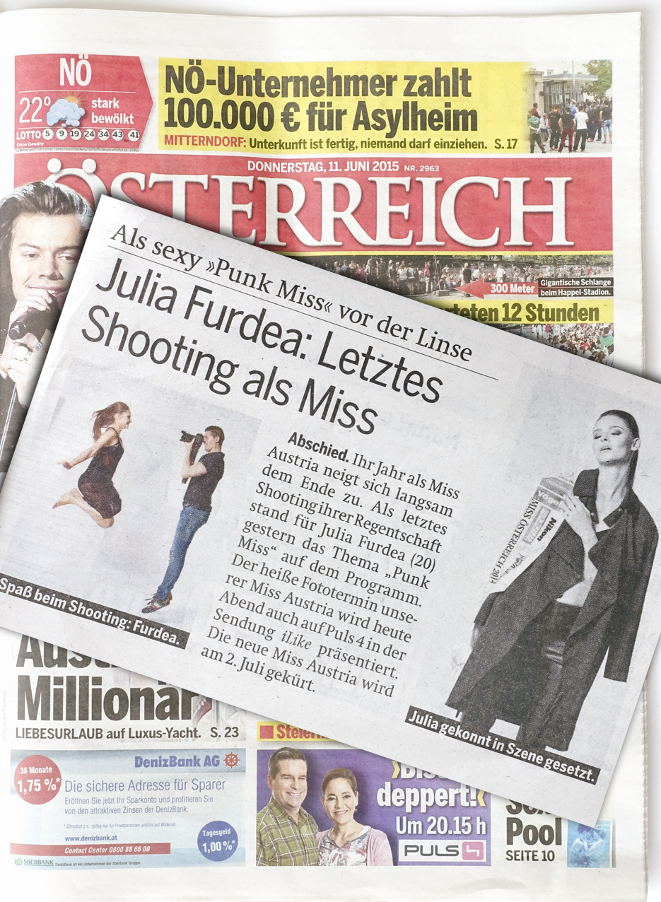 Tageszeitung Österreich Julia Furdea Daniel Gossmann Puls4 iLike BLOG