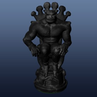 King black - 3D modelling - Maya