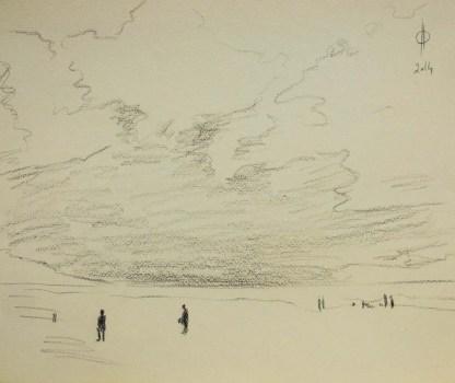 Sky 16 - pencil on paper, 25x30.5 cm, 2014