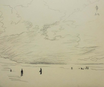 Sky 17 - pencil on paper, 25.7x30.5 cm, 2014