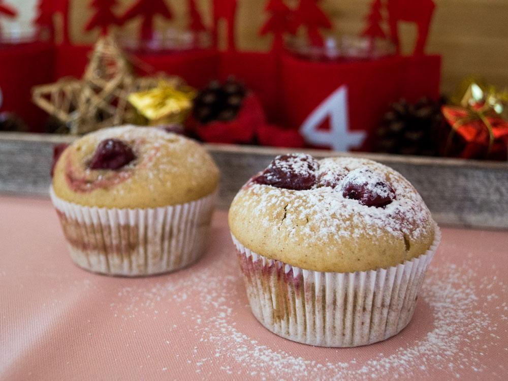 Adventsmuffins zum 4. Advent: Kirsch-Lebkuchen