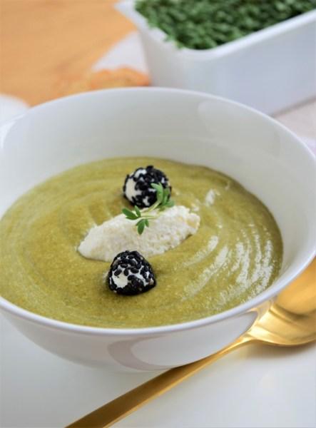 Kremet spinat suppe
