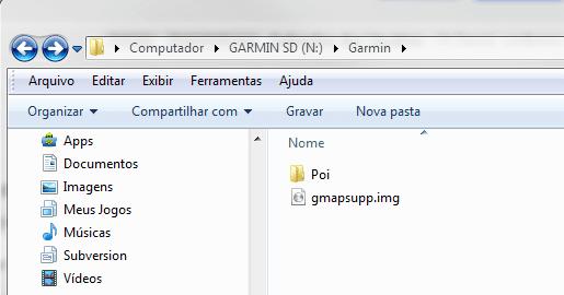Arquivos atualizaão GPS Garmin