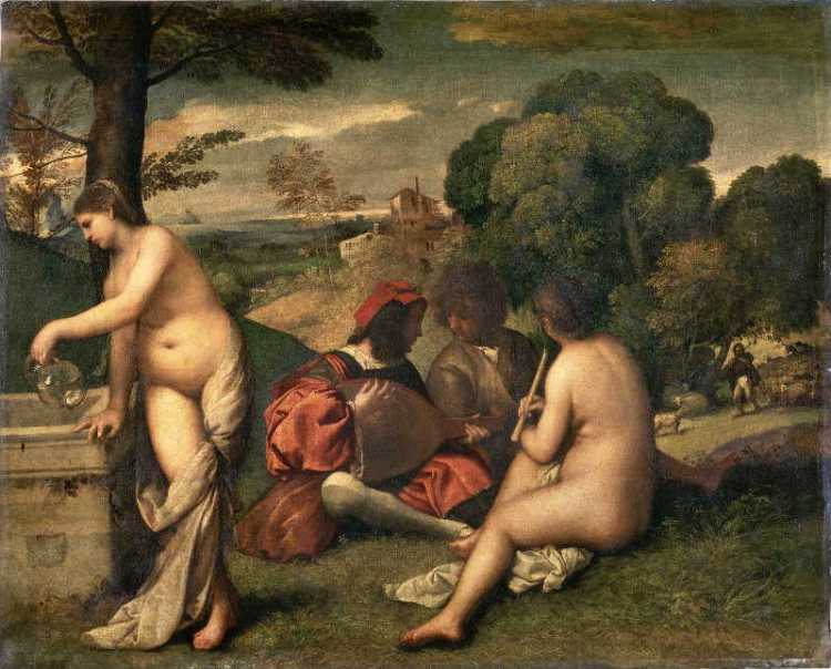 Famous-artists-Giorgione-Pastoral_Concert