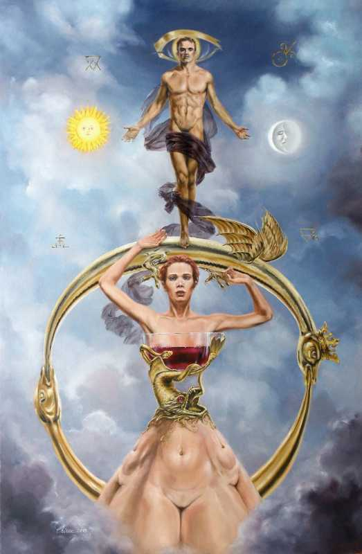 surreal-oil_painting-famous_artists_alchemy_male_female_nudes_ouroboros
