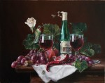 A new commission of a classical still life painting and a surreal painting