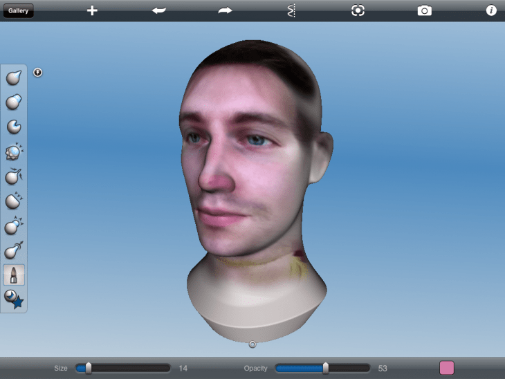 Not my most flattering self-portrait - in 123D Sculpt