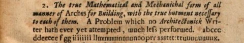 Hooke's (1675, 31) anagram of the hanging chain model. At the time, anagrams were a common way to claim the first publication of an idea before the results were ready to publish.