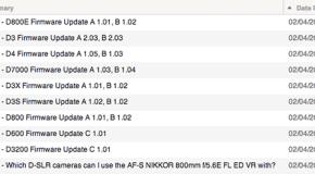 Aggiornamenti firmware per le professionali Nikon