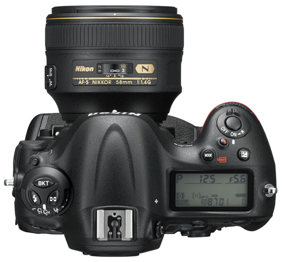 Nikon-D4s-DSLR-top