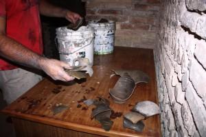 Studio preliminare di materiali in ceramica rinvenuti presso cisterna romana a Chieti - Foto di Daniele Mancini