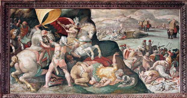 La battaglia di Zama nell'interpretazione di Roviale Spagnolo (oggi a Roma, Musei capitolini), 1580-1582